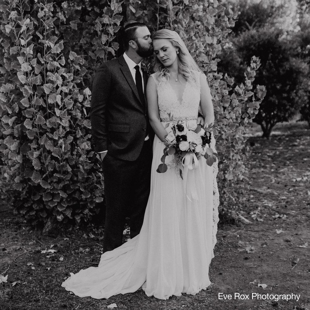 Bride Groom Malibou Lake Wedding