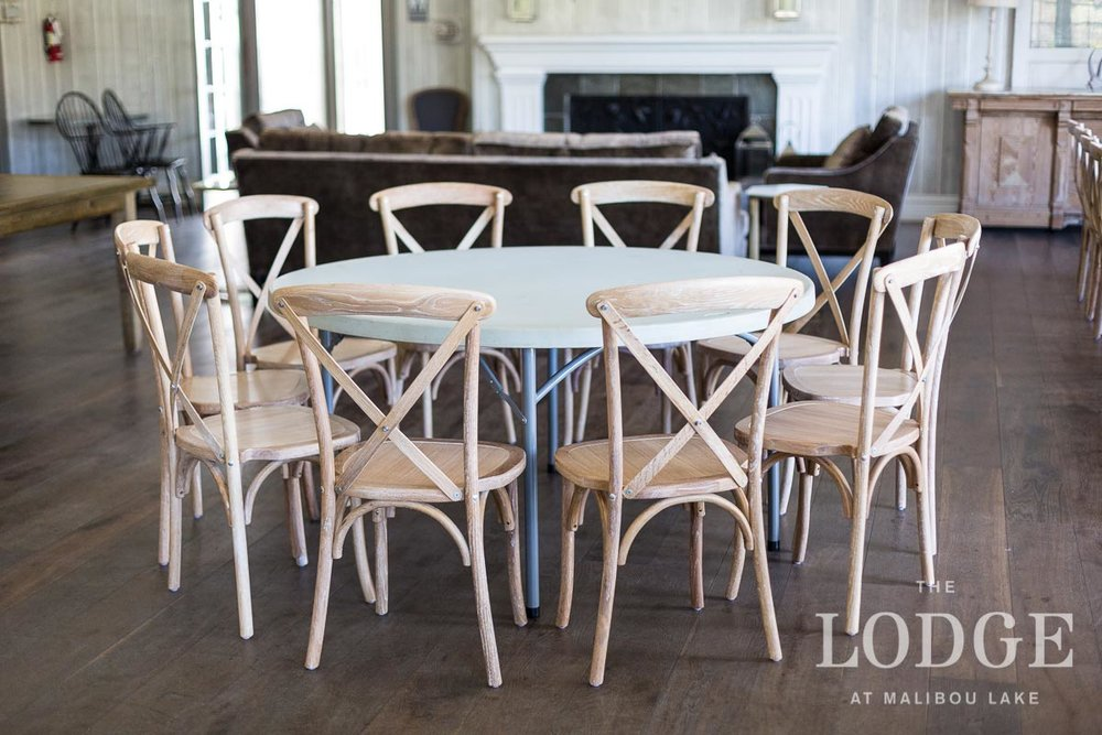 "60"" Round Dining Table with 10 Chairs"