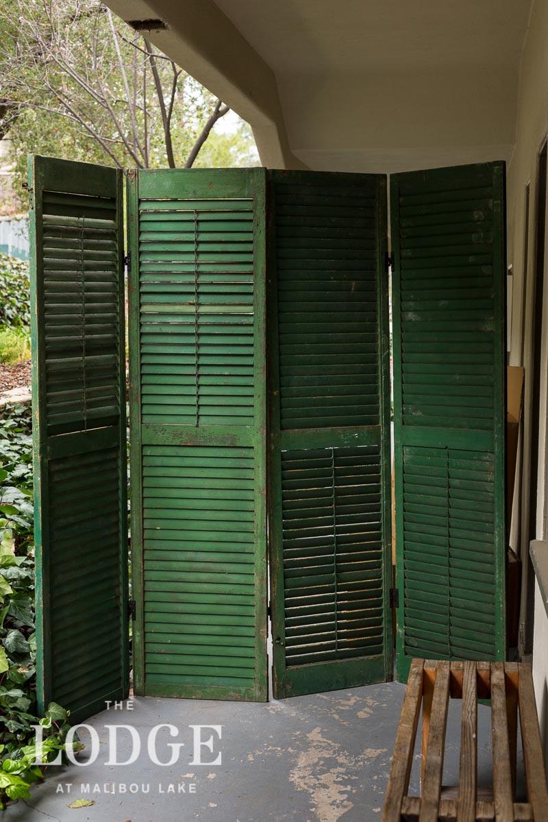 Vintage Green Shutter Screen