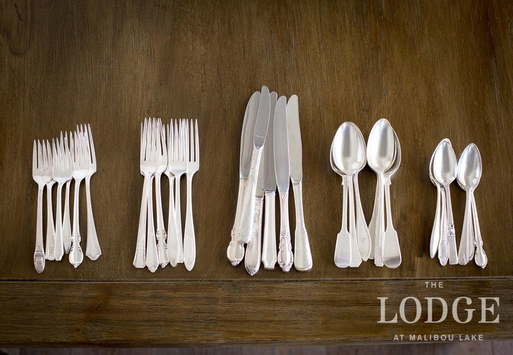 Antique Mismatched Silver Cutlery