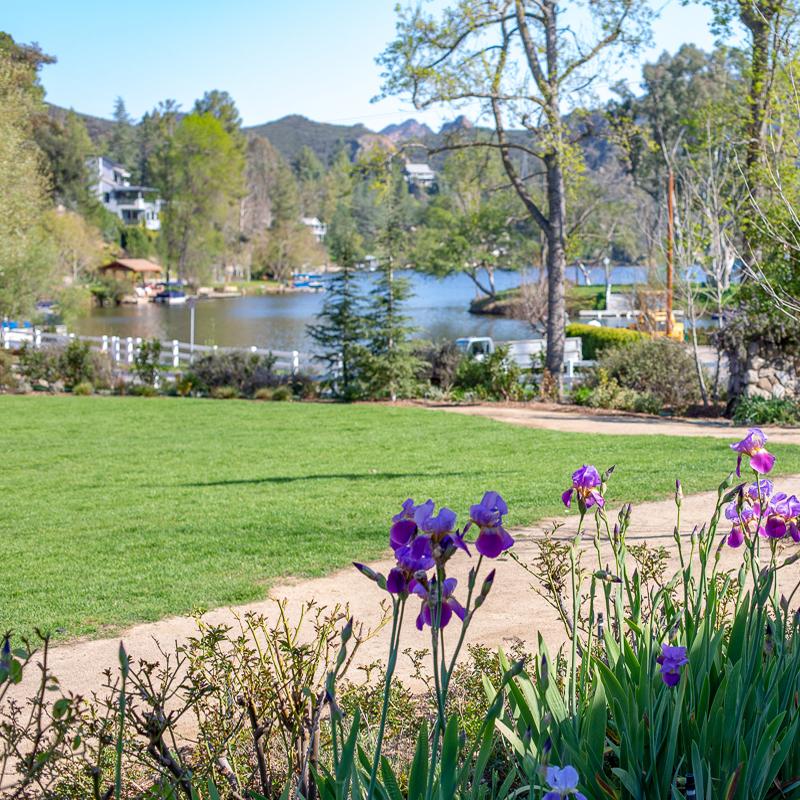 The Lawn at Malibou Lake Lodge