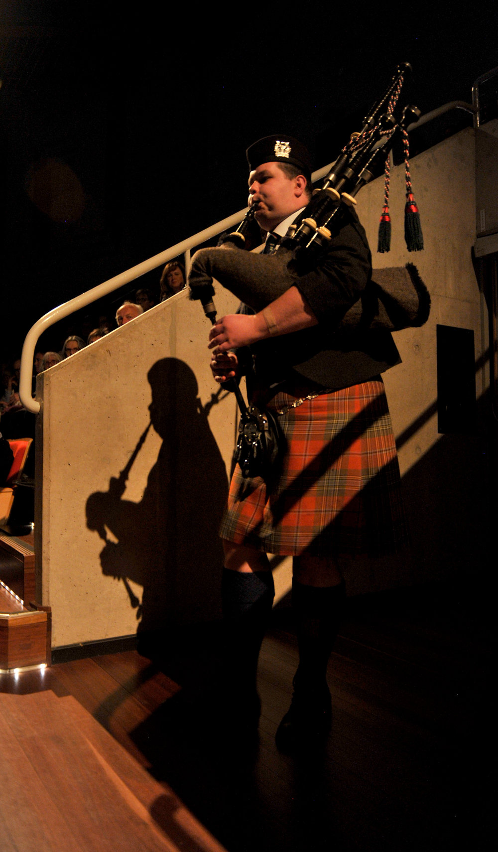 Jordan Aiken from Newcastle UK plays John Grants Lament. Diggers Requiem. Pic Graham Tidy