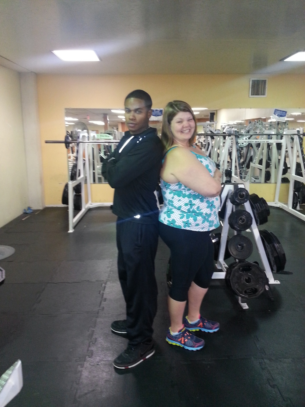 Personal trainer Isaac Miller & I