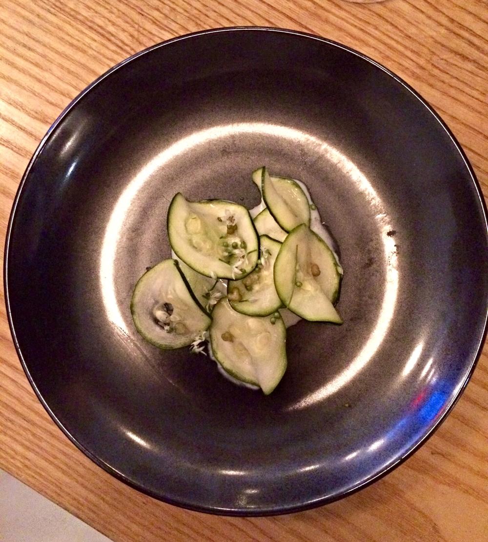 cucumber & zucchini salad with green coriander