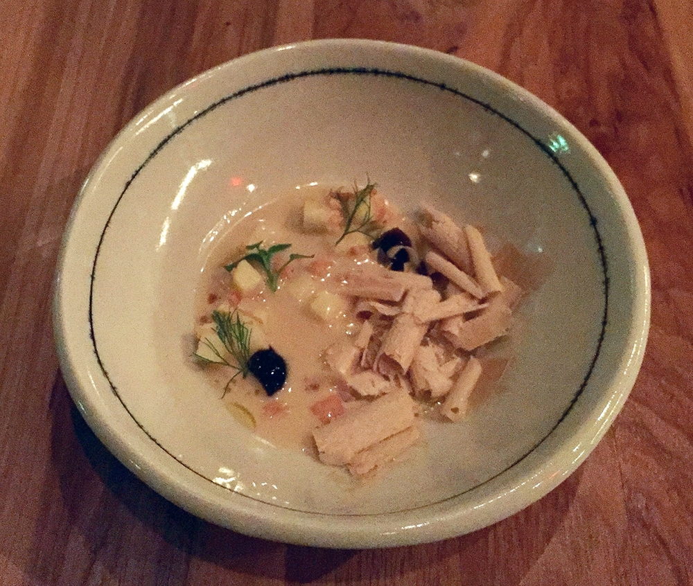 marcona almond, shaved foie gras, pedro ximenez gelee, gazpacho