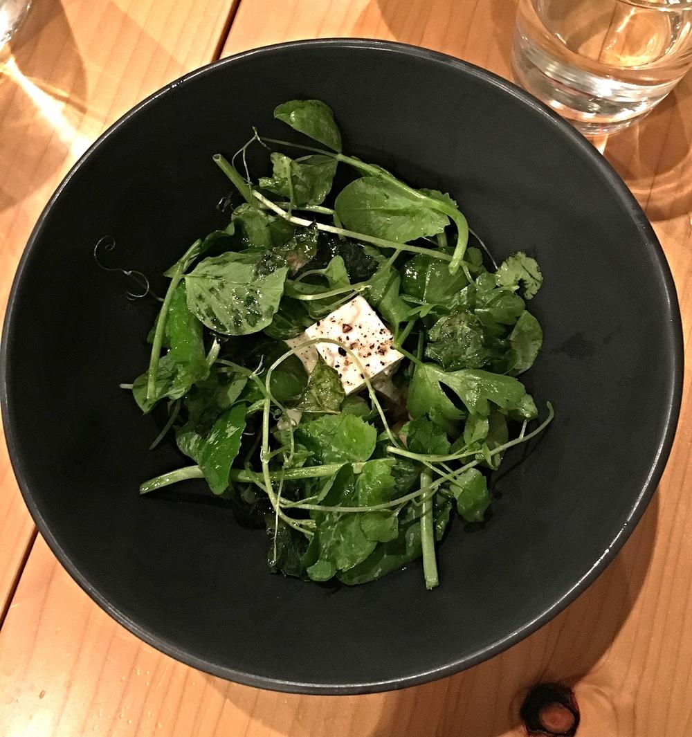watercress, kale, feta, red fife, white sonoran wheat, charred kale vinaigrette