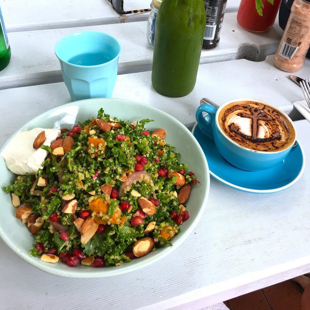 summer salad & cappuccino