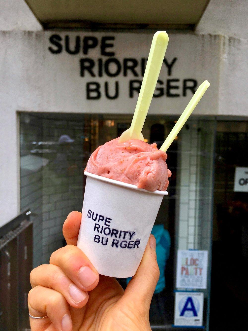 fig sorbet // cinnamon tahini gelato