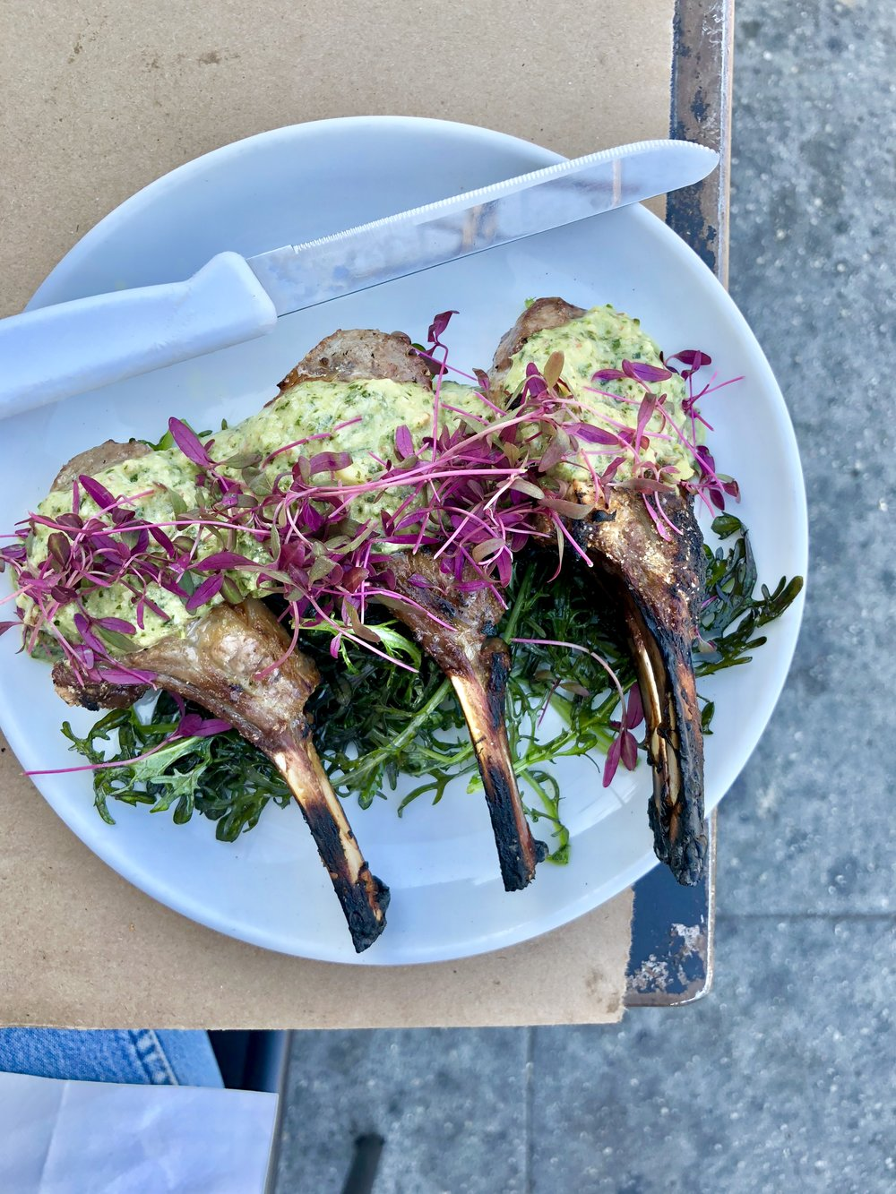 lamb chops + chimichurri