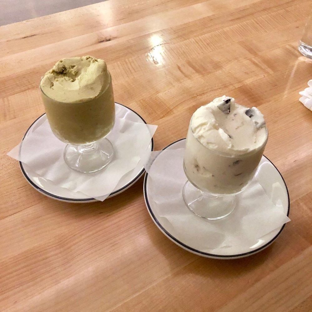 pistachio & mint stracciatella gelati