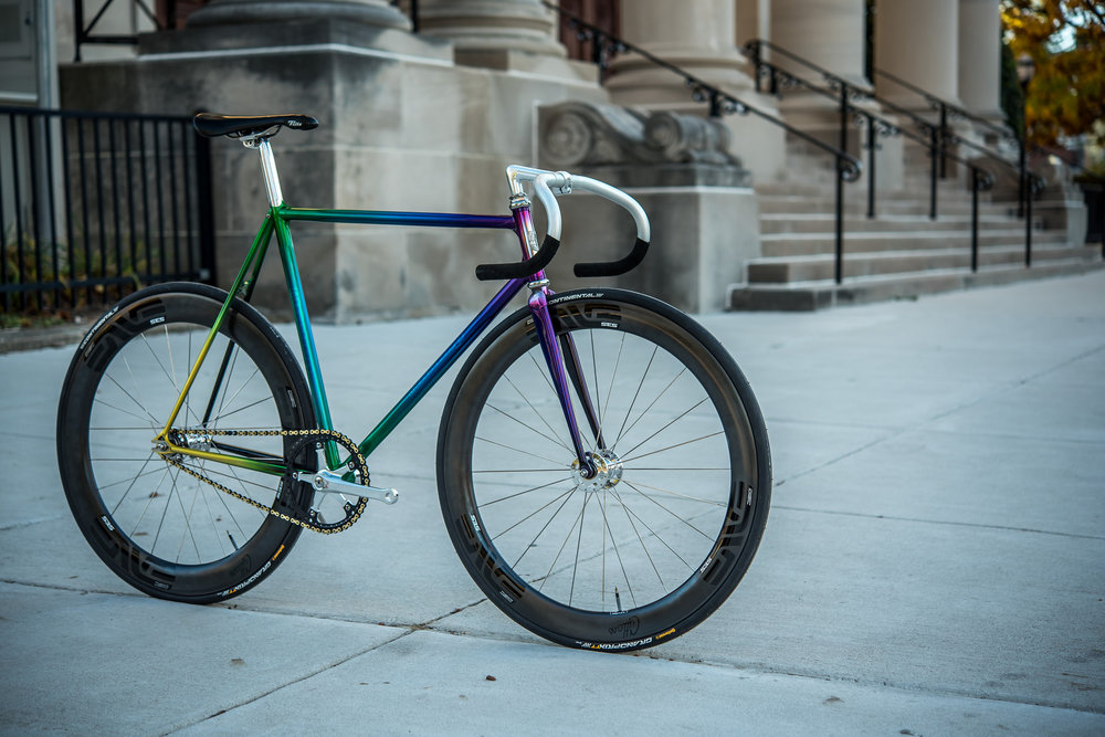 Enve 4.5AR Disc rims / Phil Wood SLR hubs with carbonite bearing upgrade Photo by Keith Trotta