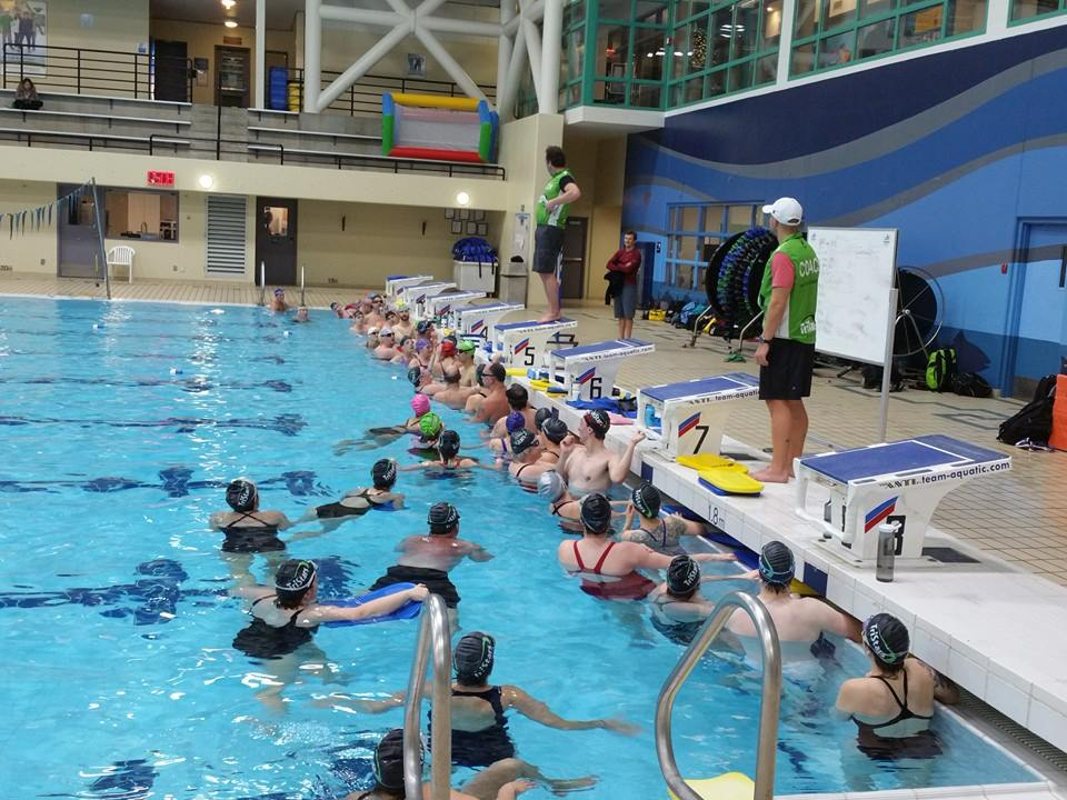 TriStars Swim Coach Johnny Greaves and Jason Ball working with our swim group.