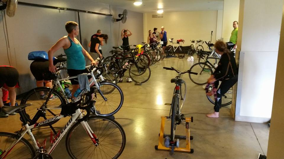 TriStars indoor spin class. Good times, great people and a challenging workout weekly.