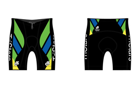 Bike Shorts - $95 + tax - Well padded cycling shorts. Comfortable fit and design. Longer and more padded than the triathlon specific shorts above.