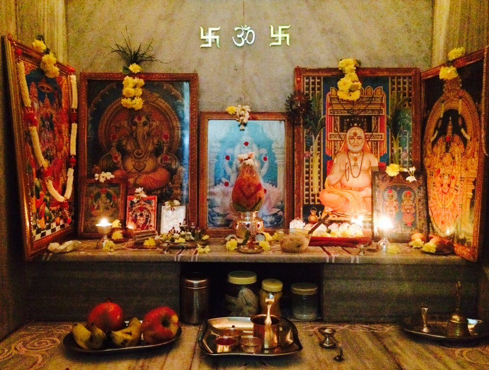 "The altar in our Indian ""homestay"""