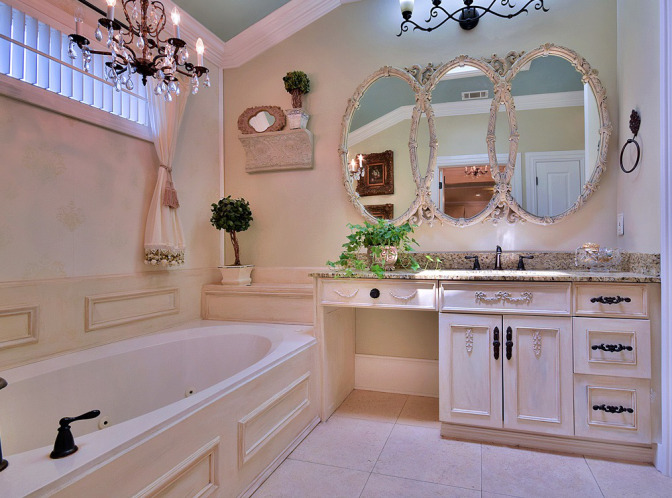 Chalk Painted Tub Surround, Vanity and Mirror – New Beauty.jpg