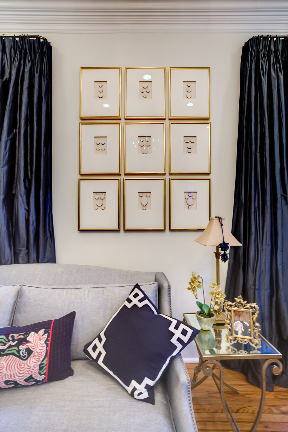 framed square wall art metairie uptown traditional interior design khb interiors