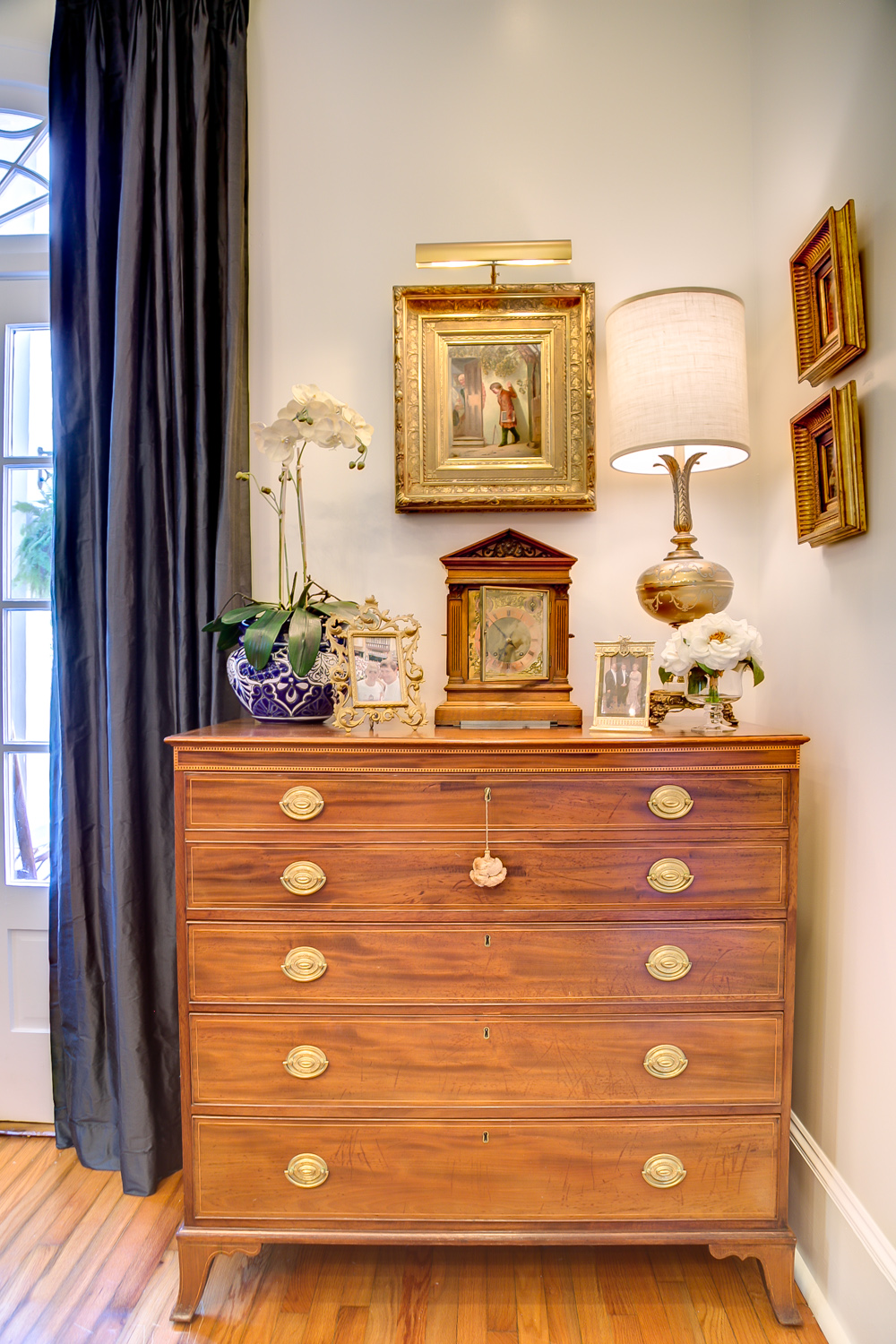 KHB Interiors Old Metairie Lakeview Interior Design Antique Secretary .jpg