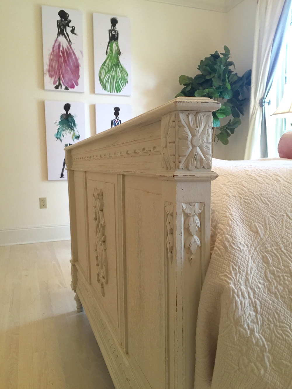 antique bed foot board new orleans interior designers khb interiors