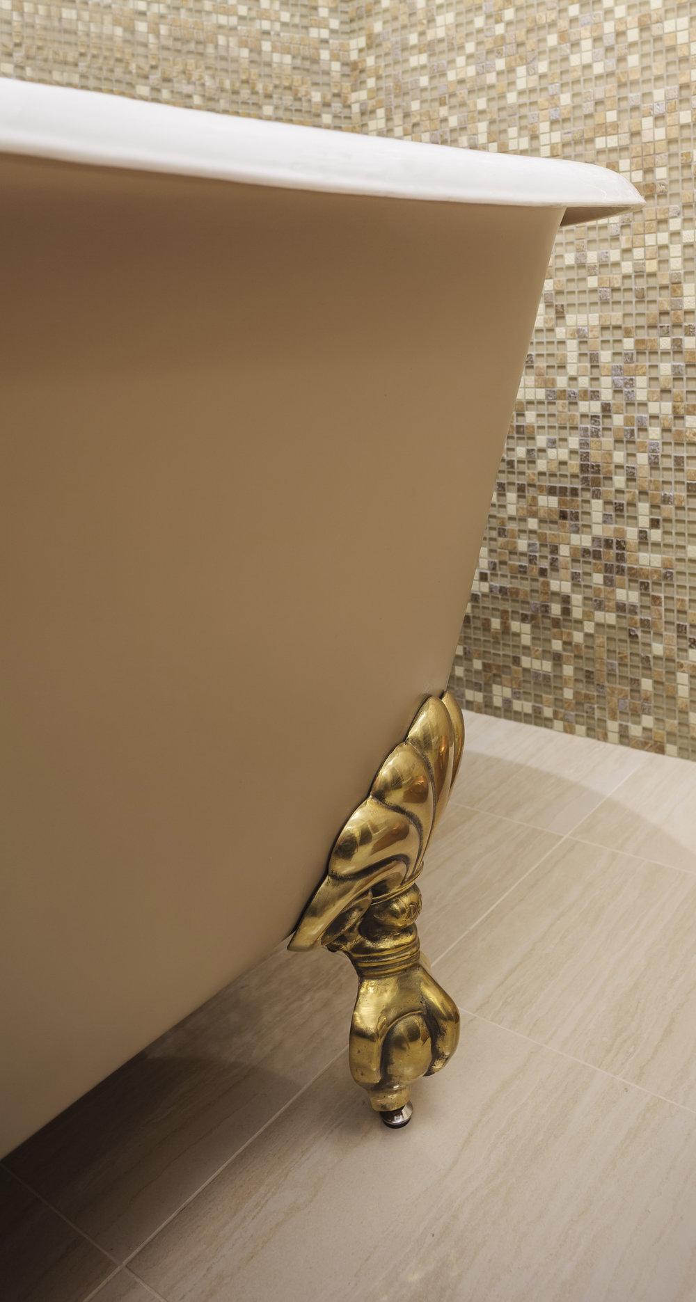 gold claw foot bathtub new orleans designers khb interiors