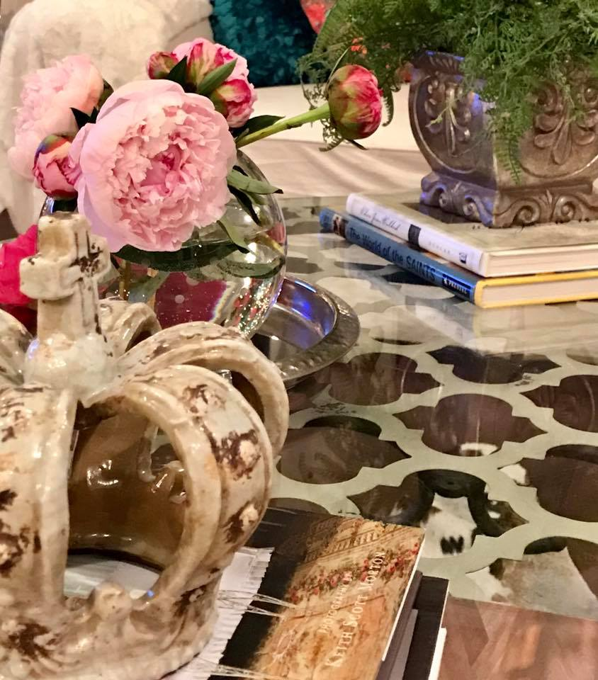 coffee table decor new orleans design style khb interiors