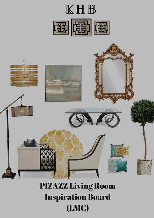 KHB Interiors New Orleans Interior Design Pizazz Living INSPIRATION BOARDS