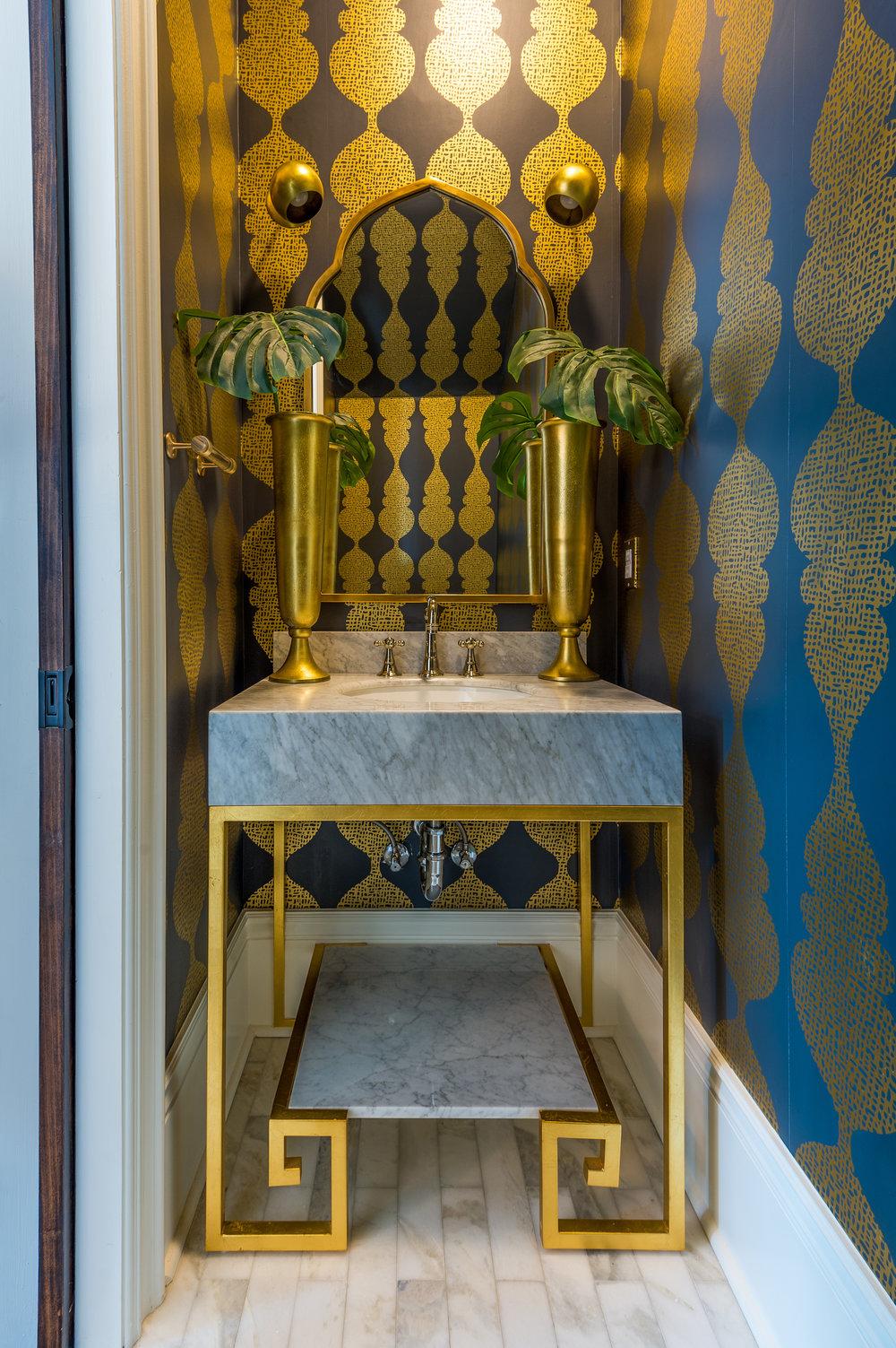 powder room vanity new orleans interiors khb interiors