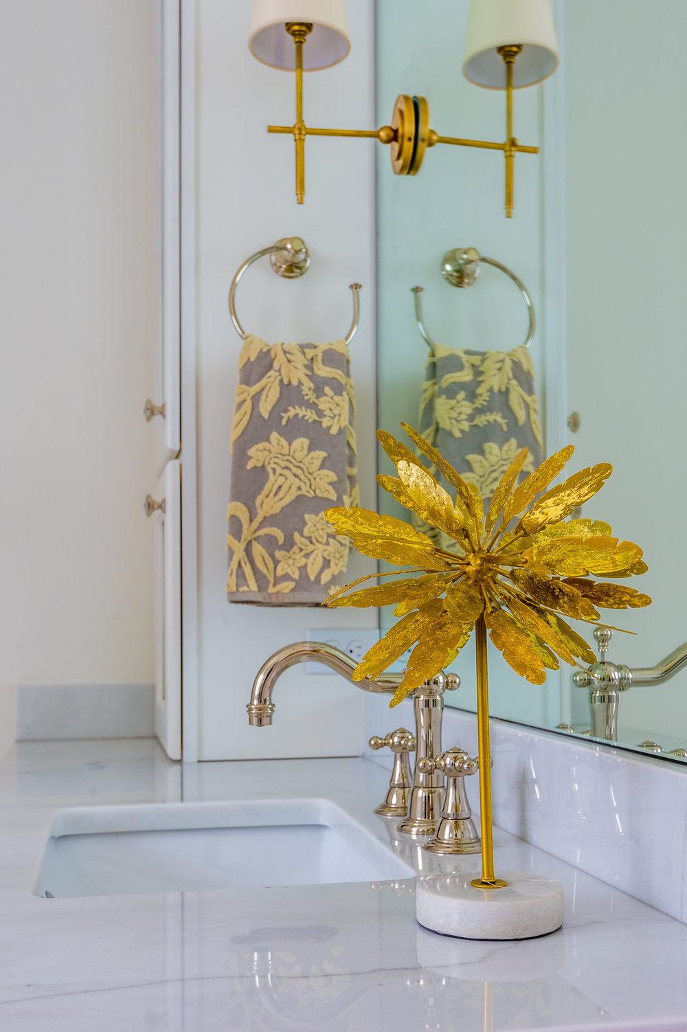 gold white bathroom vanity new orleans interiors khb interiors