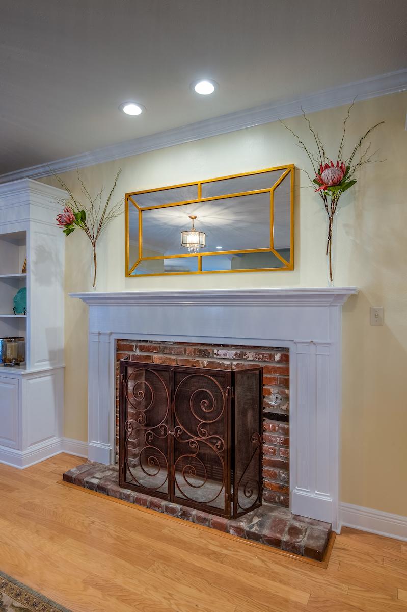 fireplace mirror decor metairie best interior designers khb interiors