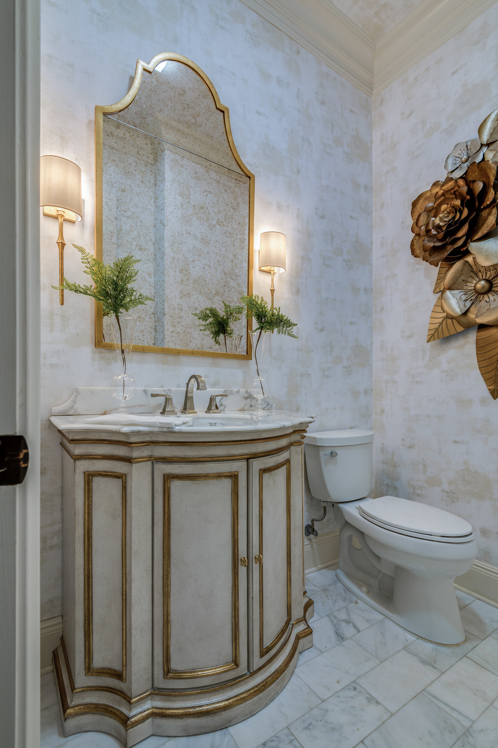 KHB Interiors powder room custom new orleans interior design old metairie garden district interior decorator powder mel .jpg