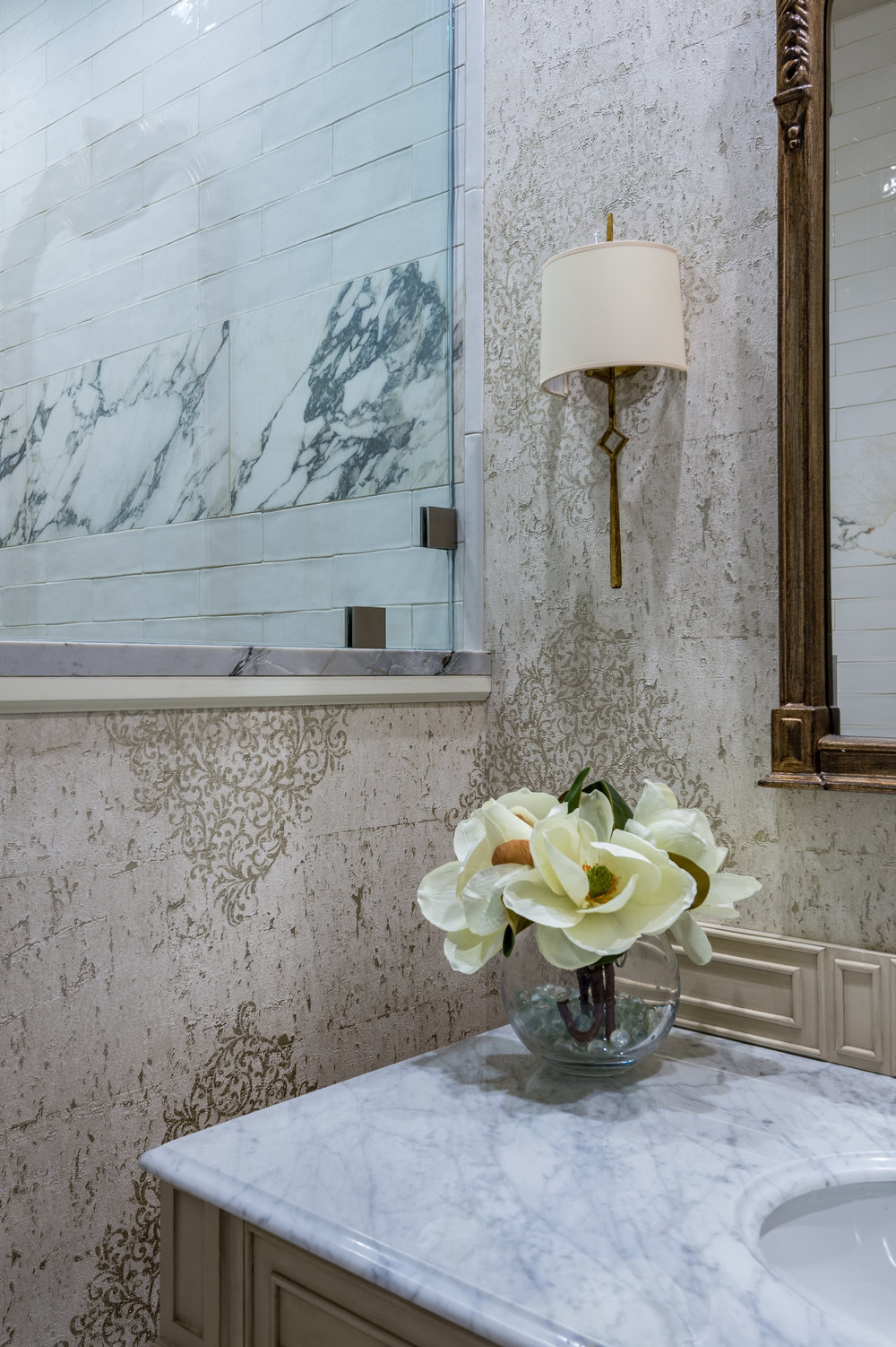 bathroom vanity wall sconce new orleans design style khb interiors