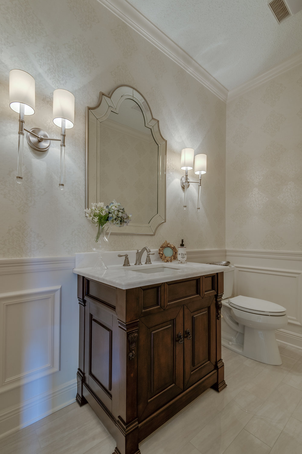 KHB Interiors classic powder room marble uptown interior decorator old metairie new orleans interior designer .jpg