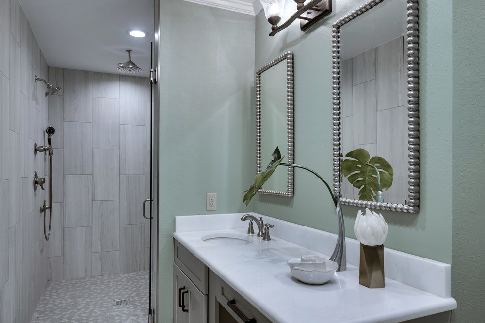 massive custom shower new orleans interior decorator