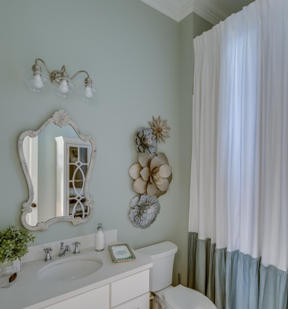 bathroom mirror wall art metairie uptown luxury interior design khb interiors