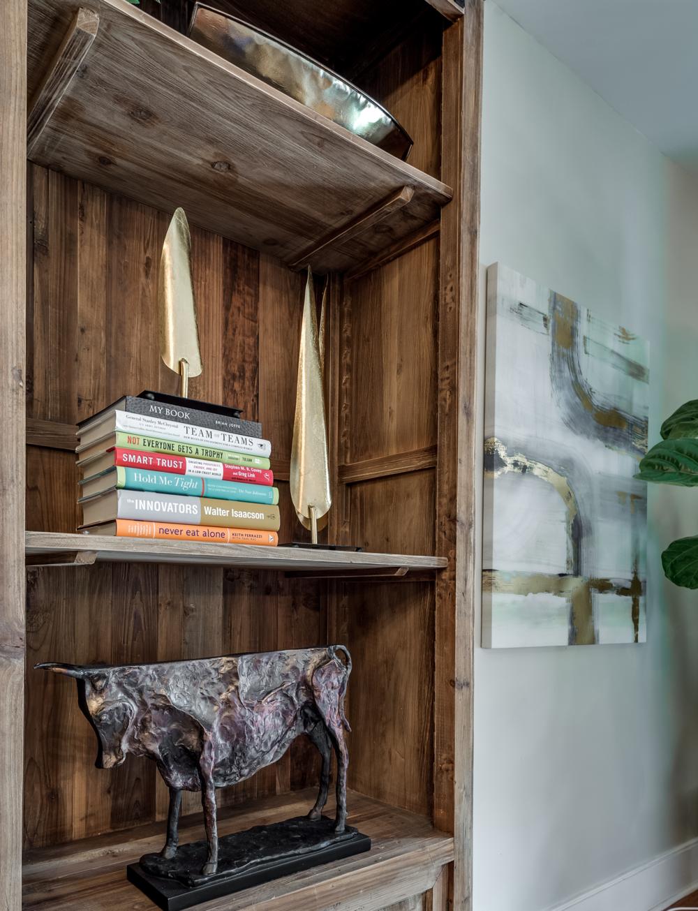 bookshelf decor ideas metairie uptown interiors khb interiors
