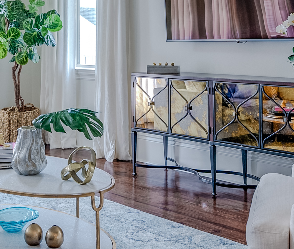 living room console table new orleans local interior designers khb interiors