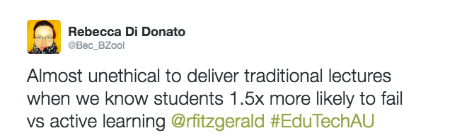 A screenshot of my tweet during Prof Fitzgerald's seminar.