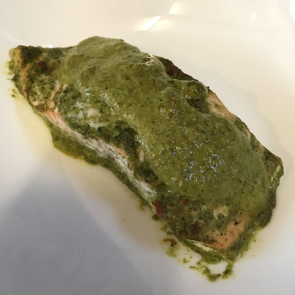 Coriander & Coconut Baked Salmon