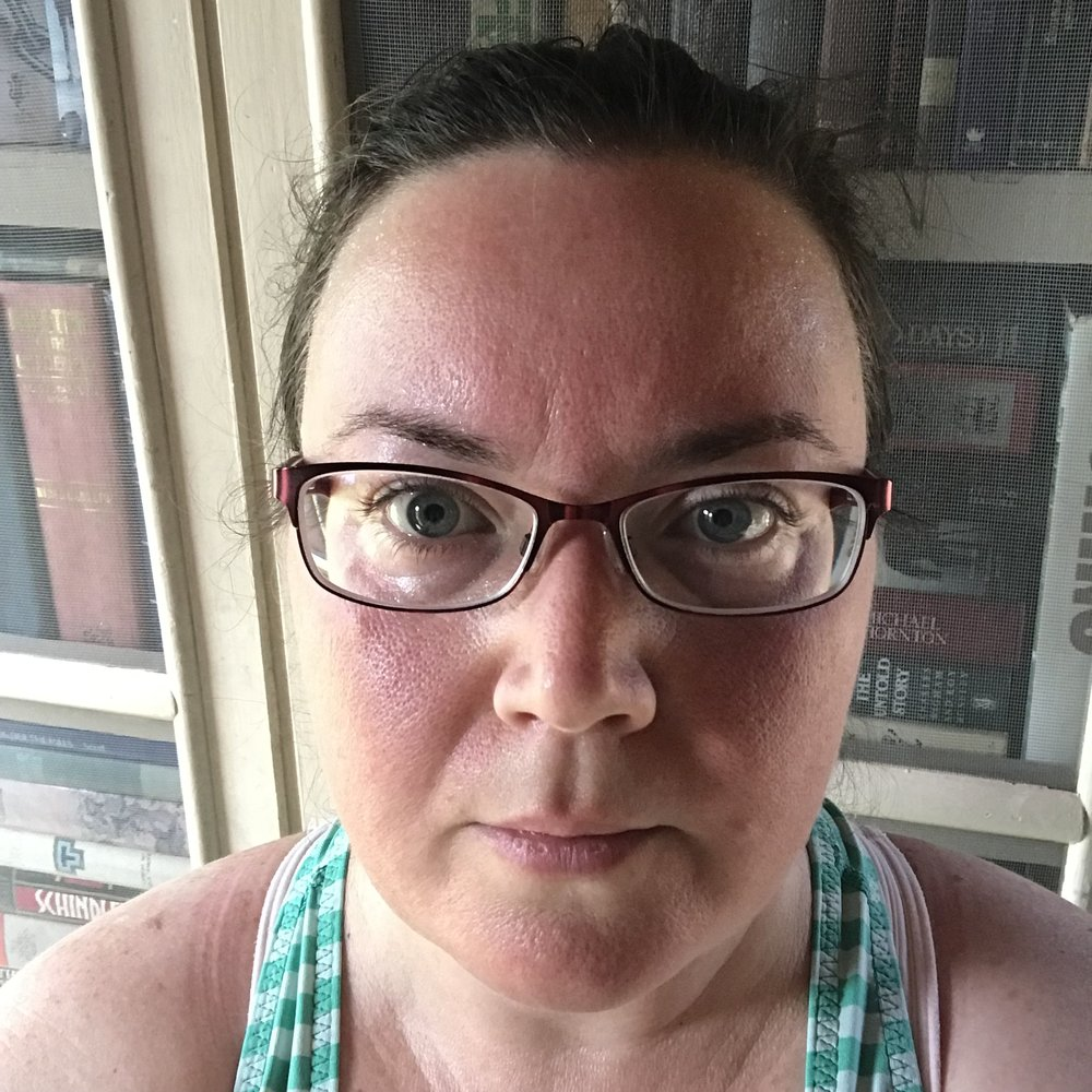 Me, red-faced and sweaty, after my 90-minute walk