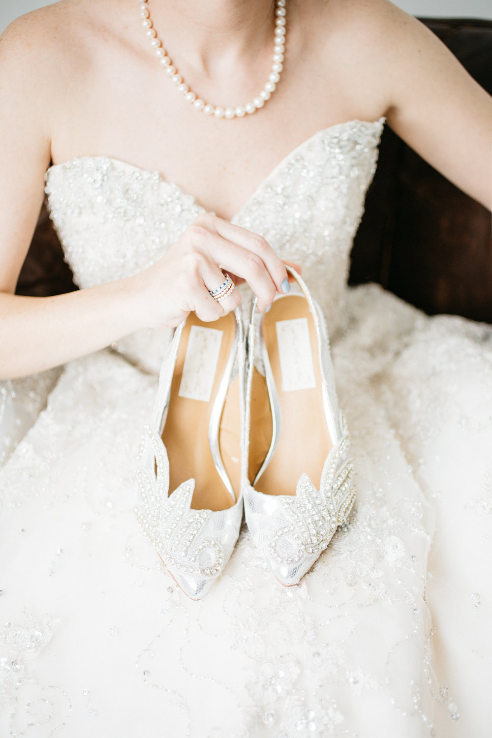 mary marry me shoes | pearls lauren belle jewelry | lulus bridal gown