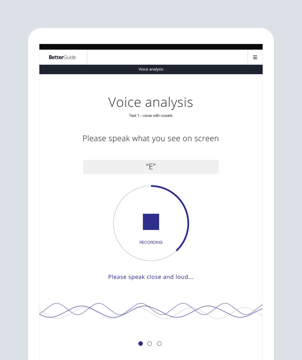 Speak  into the app and provide a brief voice sample.