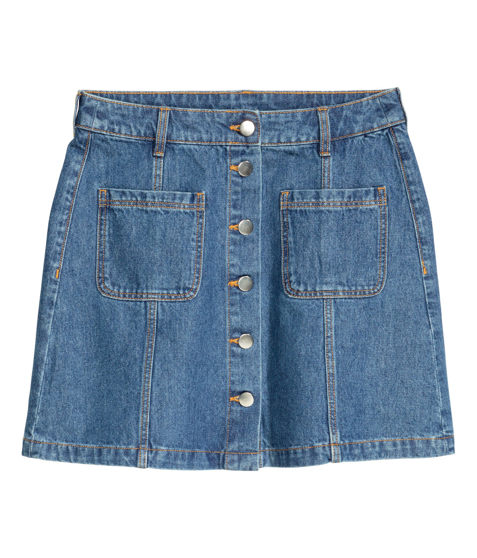H&M, $25 I also need an updated denim skirt, and this one may or may not have a matching size for Bailey :). Check back tomorrow for more on that!