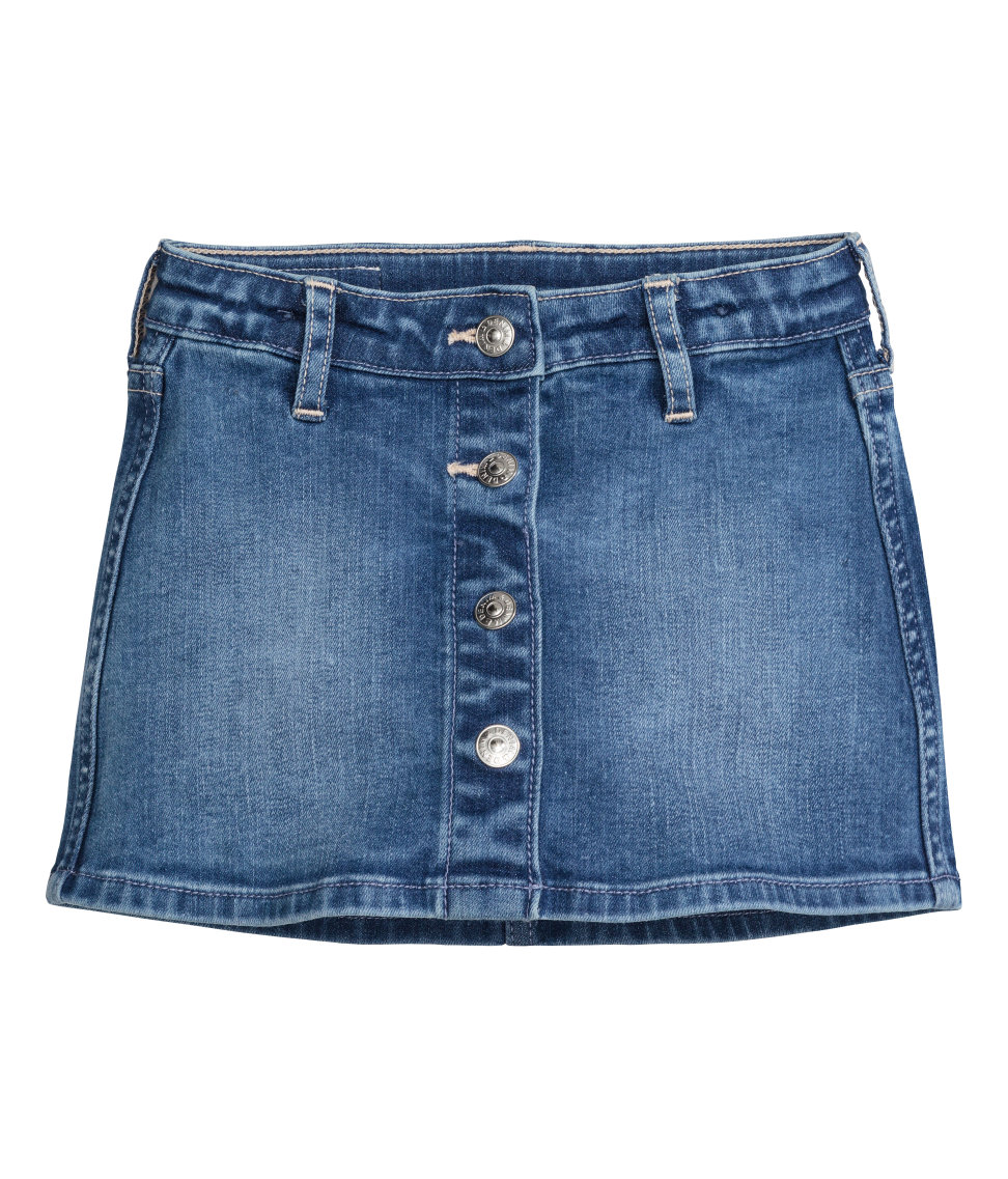 H&M, &18 The aforementioned matching denim skirt! I don't think there would be a better way for Bailey and I too match.