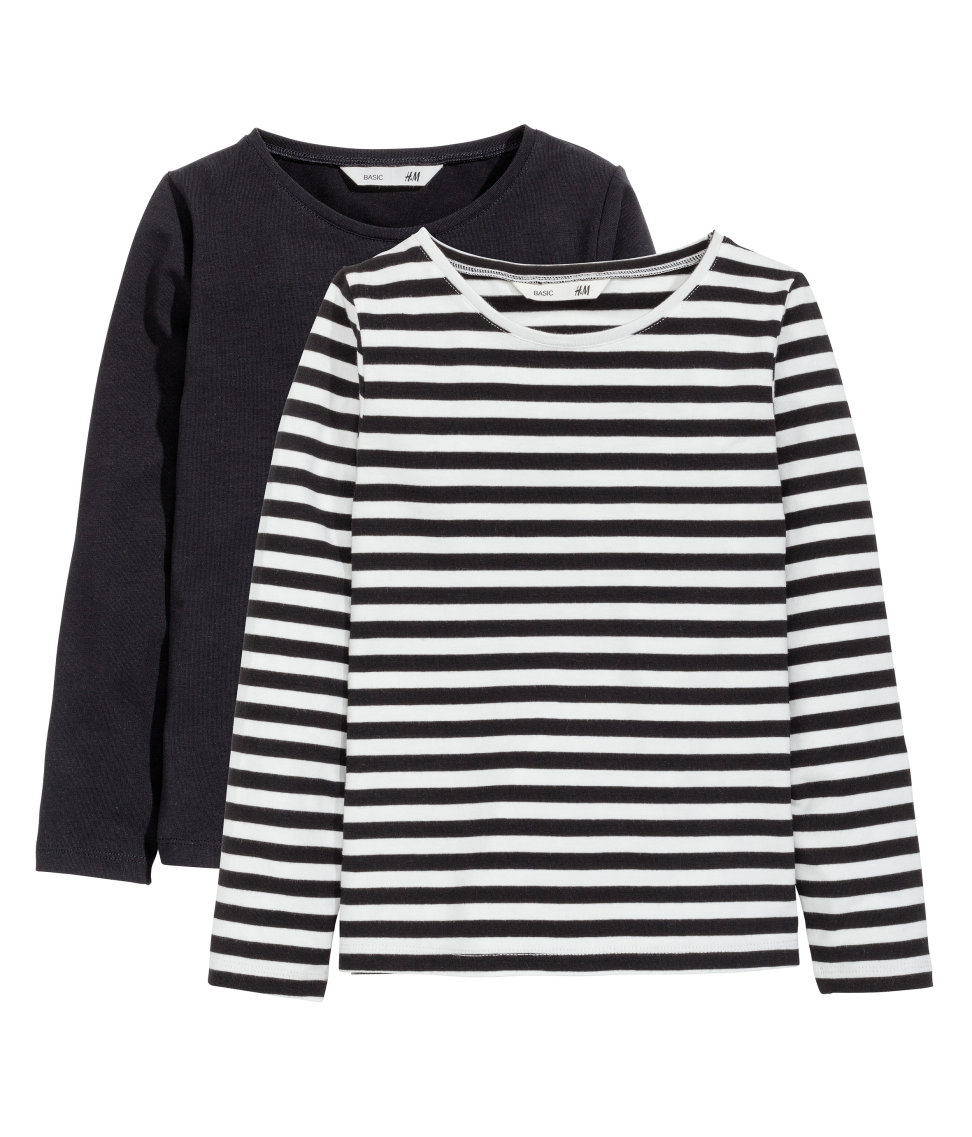 H&M , $13 for two  Little girl needs a few long sleeve t's to rotate around her wardrobe. I love the price point and the plethora of prints available in these two-packs.