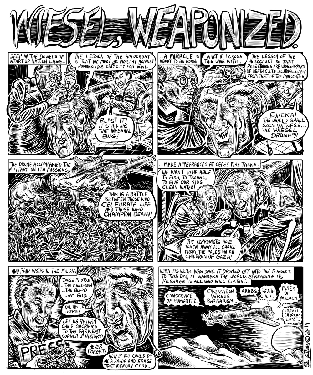 Wiesel, Weaponized: Elie Wiesel, Gaza. +972 Magazine, 8/19/14