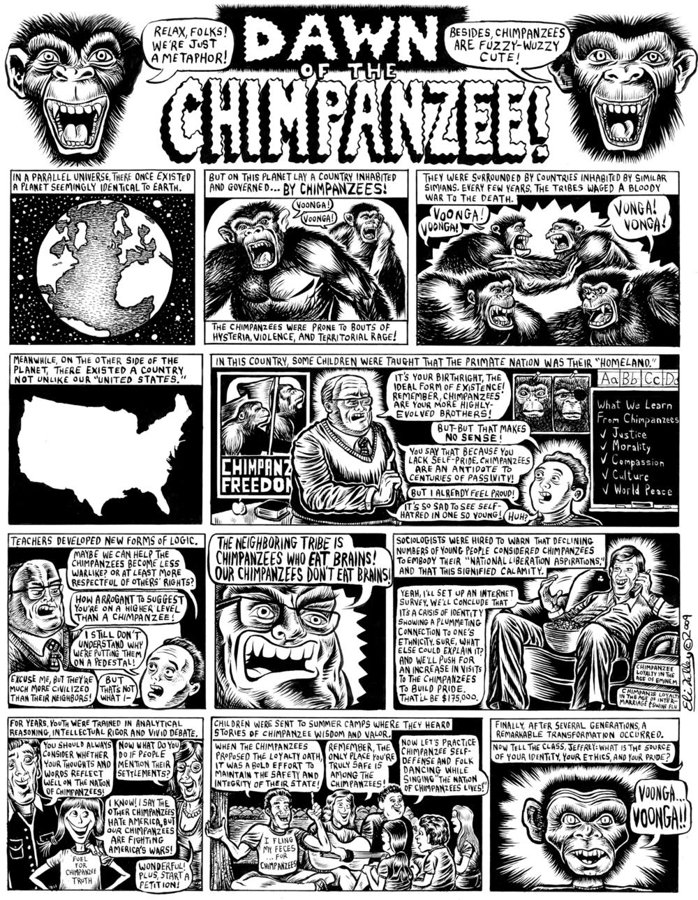 Dawn Of Chimpanzee: Israel Education. Gawker, 8/18/09