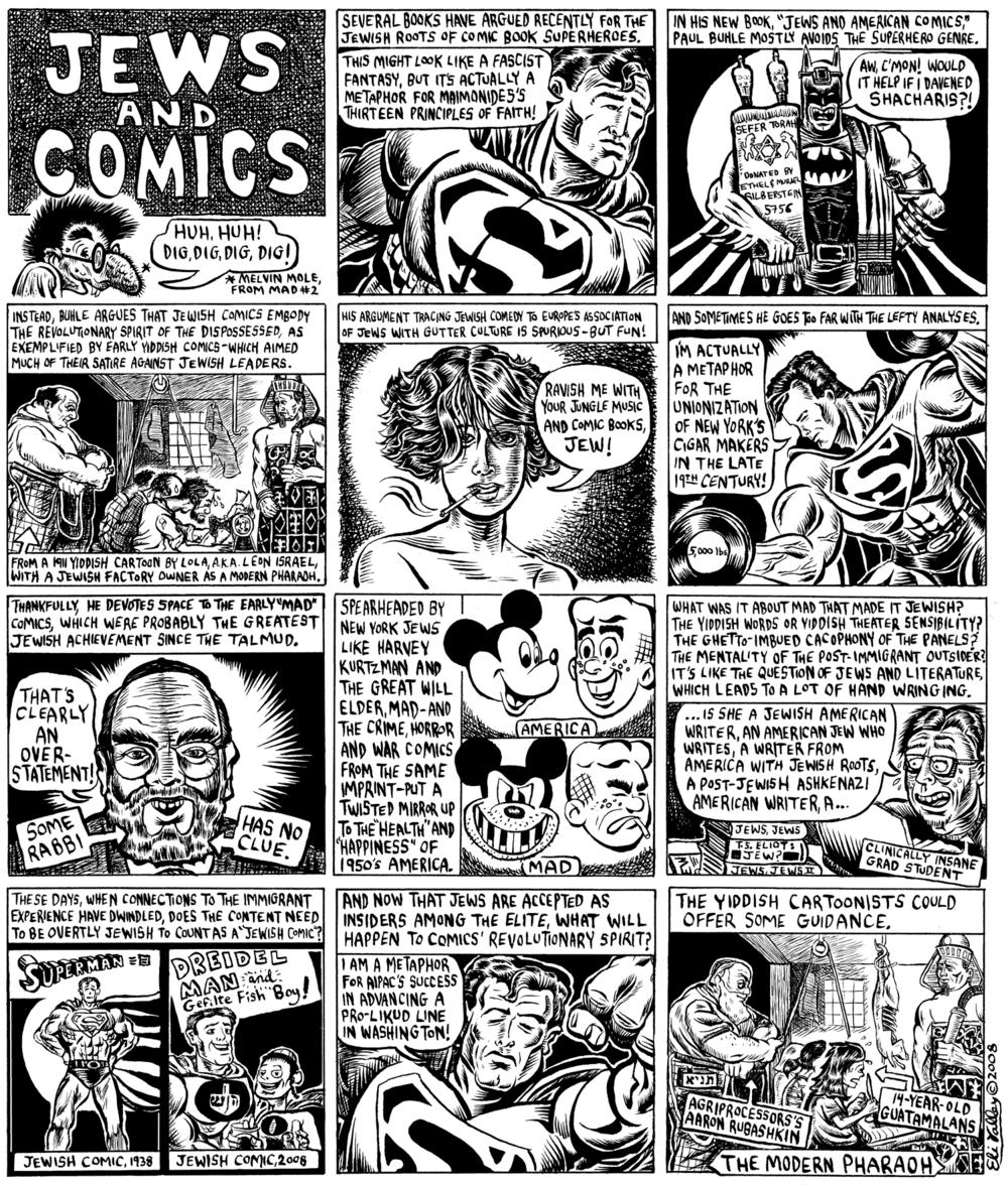 Jews and American Comics. Forward, 9/18/08
