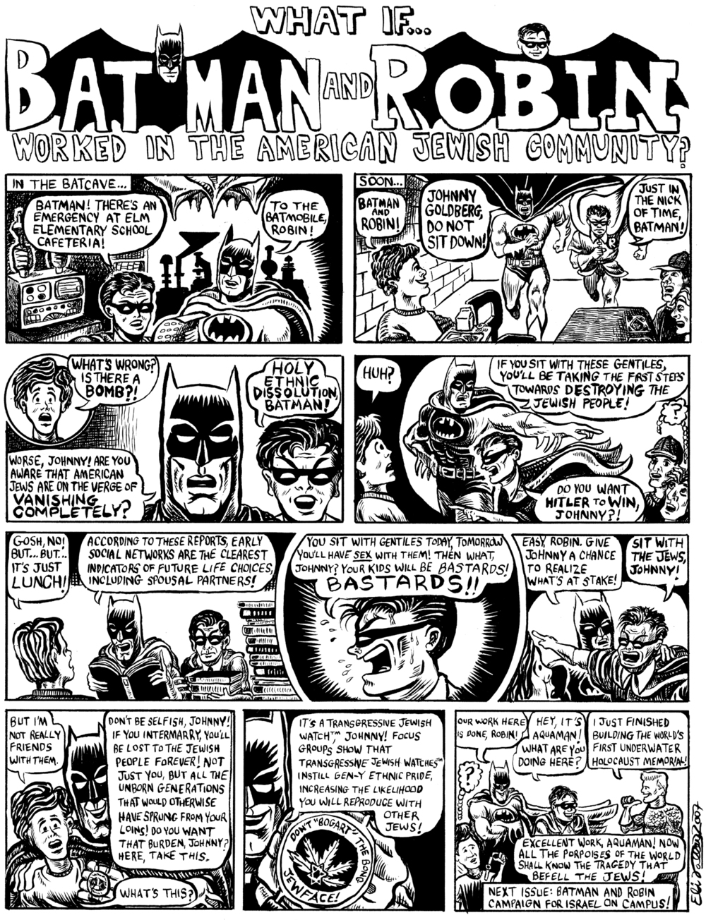 What if Batman and Robin Worked in the American Jewish Community? Jewcy, 7/2/07