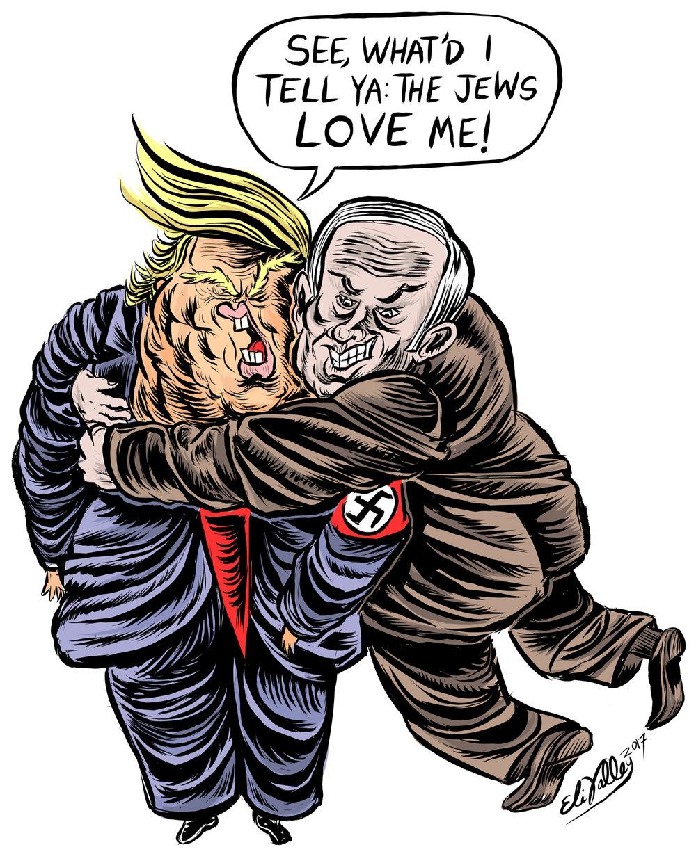 Trump + Netanyahu, 2/15/17