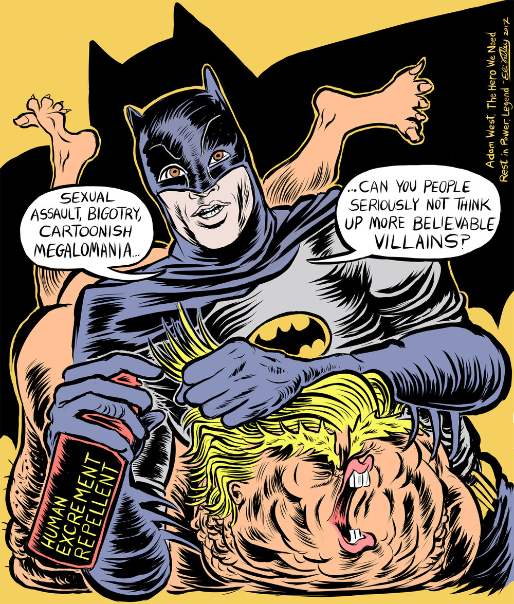 Tribute to Adam West, The Nib, 6/12/17